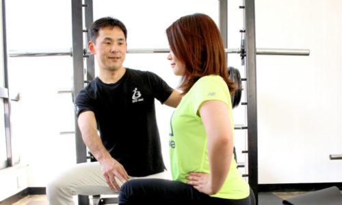 体に合わせたトレーニング+整体によるケア